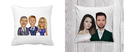Wedding Caricature Pillows