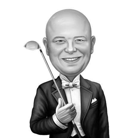 Caricature for Golf Lover - Best Golfer Online Gift - example