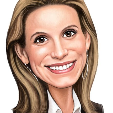 Personalized Employee Caricature in Colored Pencils - example