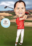 Caricatura da golf example 15