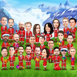 Corporate Christmas Caricature