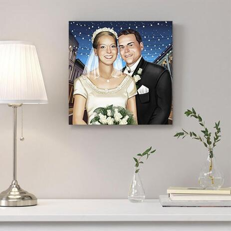 Wedding Portrait Printed on Canvas - example