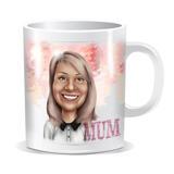 Personalized Photo Mug: Printed Cartoon Drawing on Mug