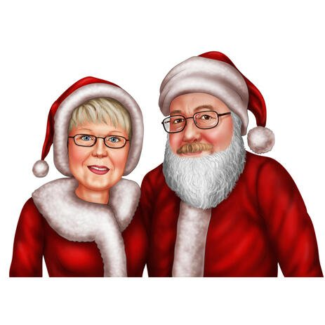 Xmas Couple Portrait as Santa Claus and Mrs. Claus - example