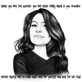 Портретный рисунок по фото в черно-белом карандаше