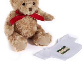 Wedding Group Caricature Printed on Teddy Bear