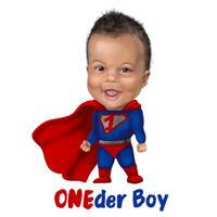 Happy Boy Kid Superhero Cartoon Caricature from Photo