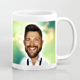 Caricature customized coffee mugs