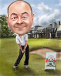 Caricatura da golf example 14