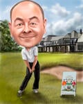 Caricatura de golf example 14