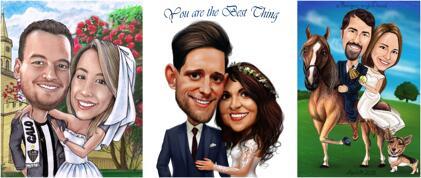 Caricaturas de casamento