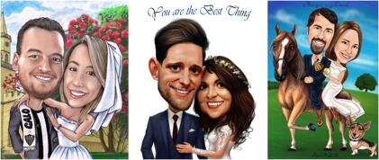 Caricatures de mariage