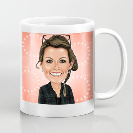 Personalized Caricature Mug Drawn - example