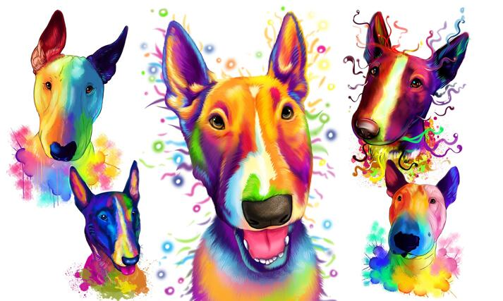Bull Terrier Caricature large example