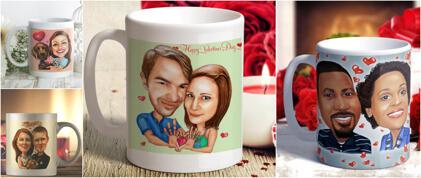 Valentine's Print on Mugs