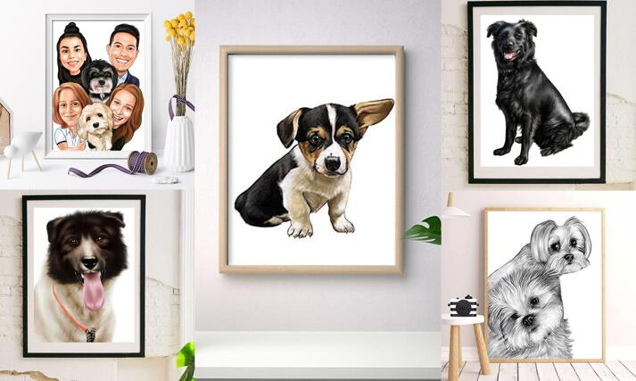 Pets Caricature Poster large example