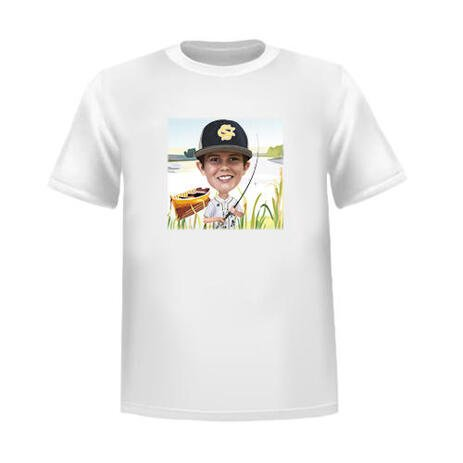 Personalized Tshirt with Kid Caricature - example