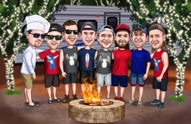 Custom Groomsmen Cartoon from Photos - Groomsmen Gift
