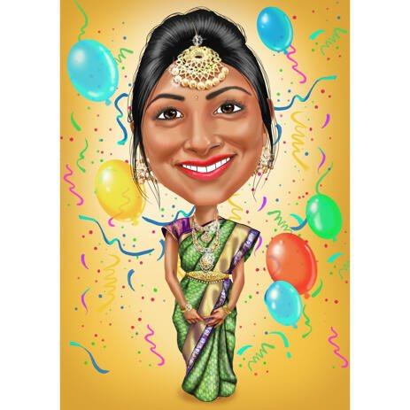 Customized Woman Birthday Gift Cartoon Caricature for Her - example