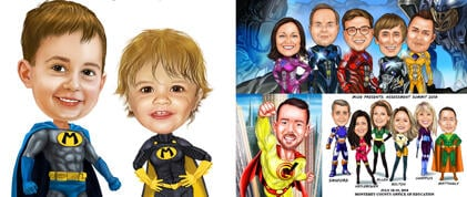 Superhero Caricatures