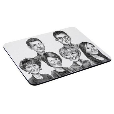 Business Logo Caricature on Mouse Mat - example