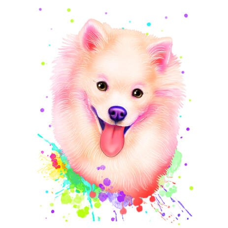 Pet in Delicate Pale Tone Coloring from Photos for Custom Pet Lover Gift - example