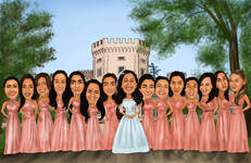 Bridesmaids karikatuur example 9