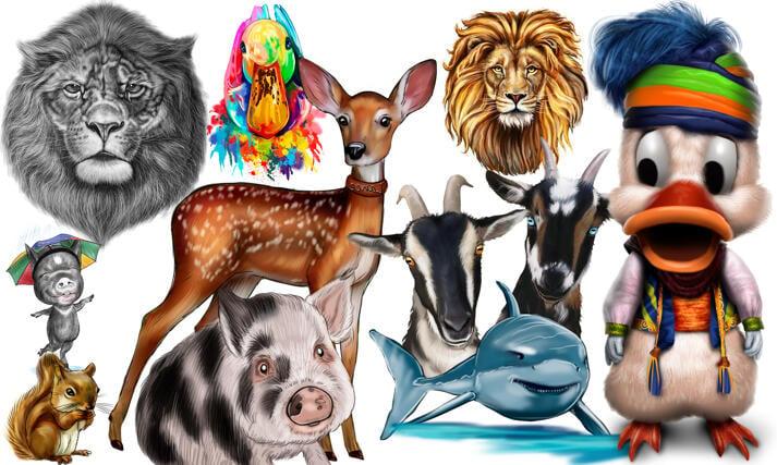 Caricaturas De Animales large example