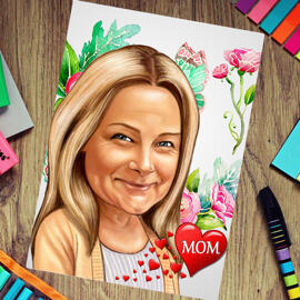 Mother's Day Caricature Print