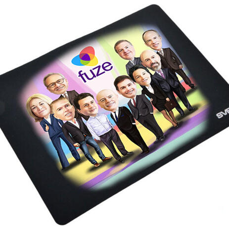 Employees Caricature on Mouse Mat - example
