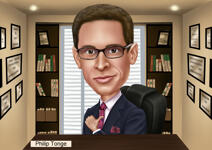 Boss Day Caricature example 1
