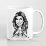 Personalized Mug: Printed Cartoon Drawing on Mug