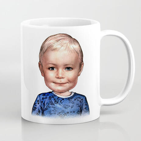 Custom Kid Drawing on Coffee Mug - example